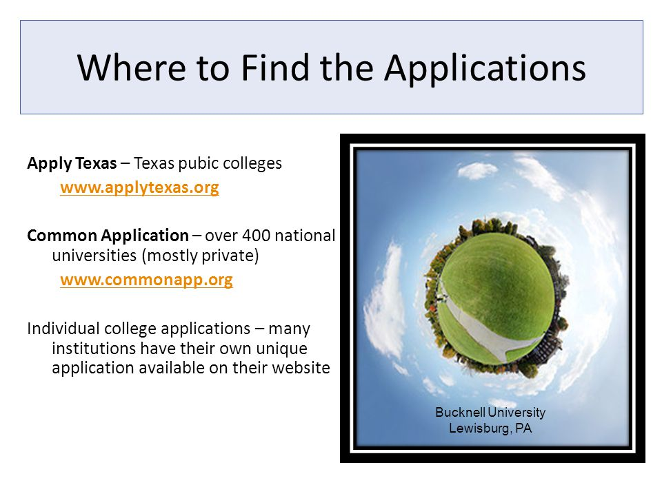 Where to Find the Applications