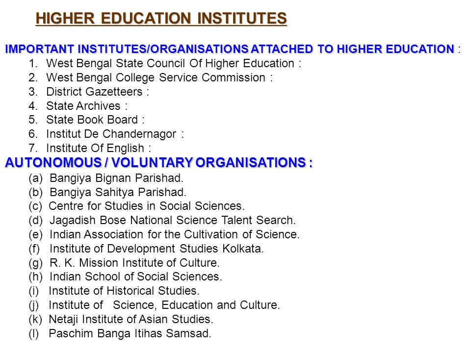 HIGHER EDUCATION INSTITUTES