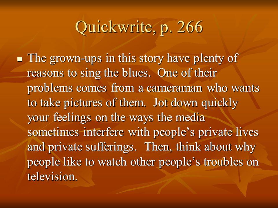 Quickwrite, p. 266