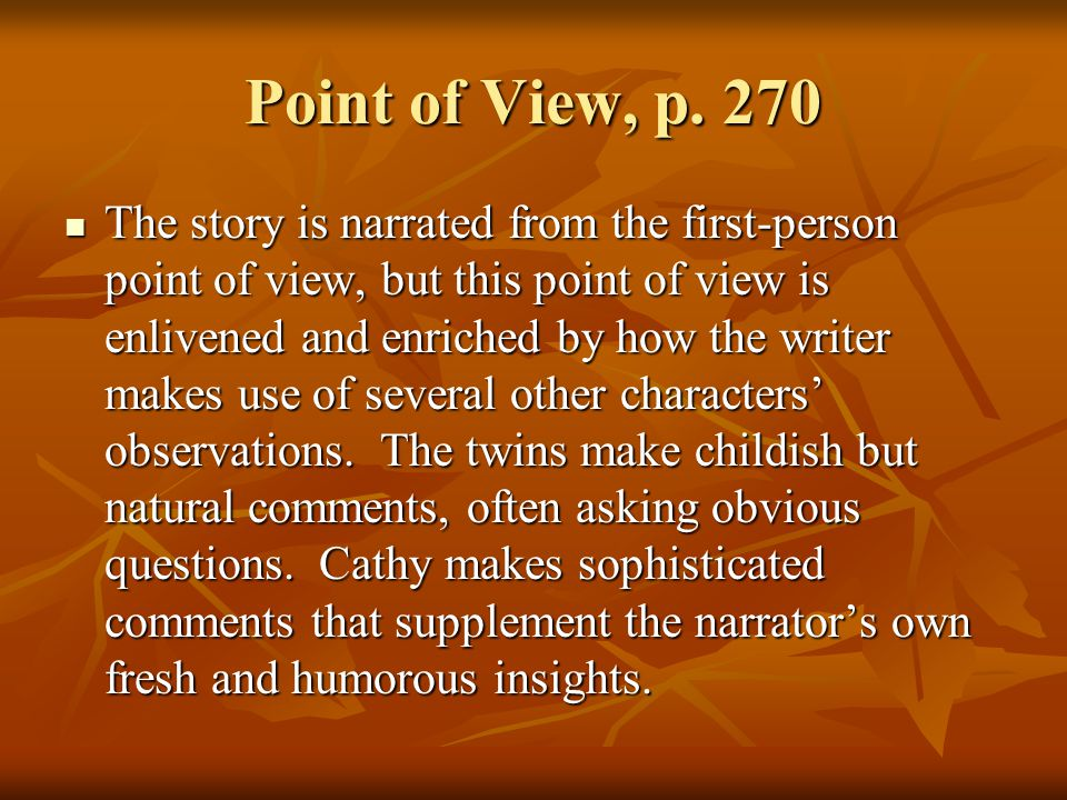 Point of View, p. 270