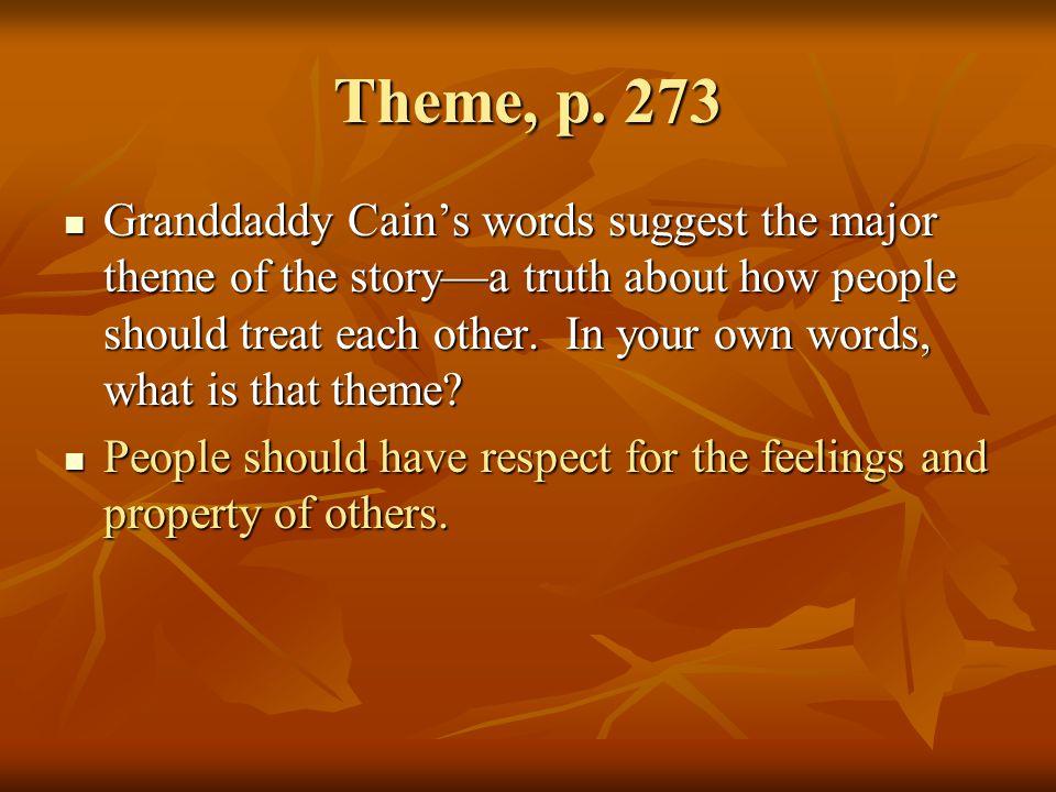 Theme, p. 273