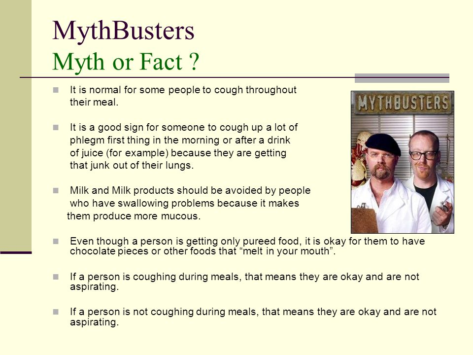 MythBusters Myth or Fact