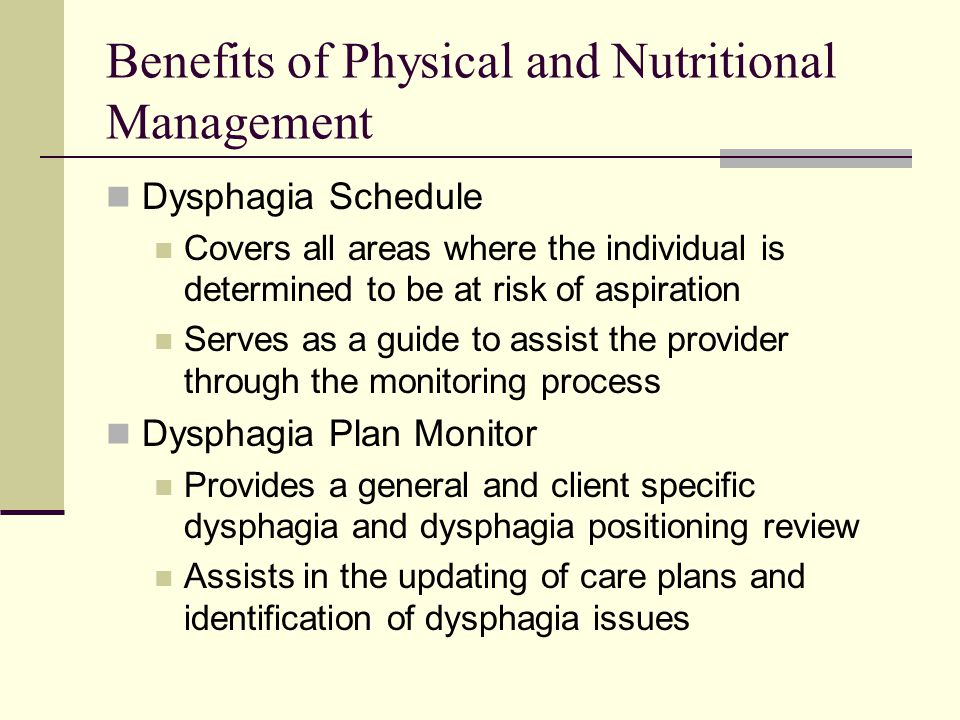 Benefits of Physical and Nutritional Management
