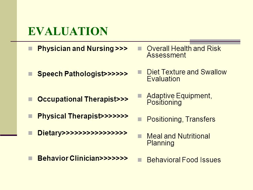 EVALUATION Physician and Nursing >>>