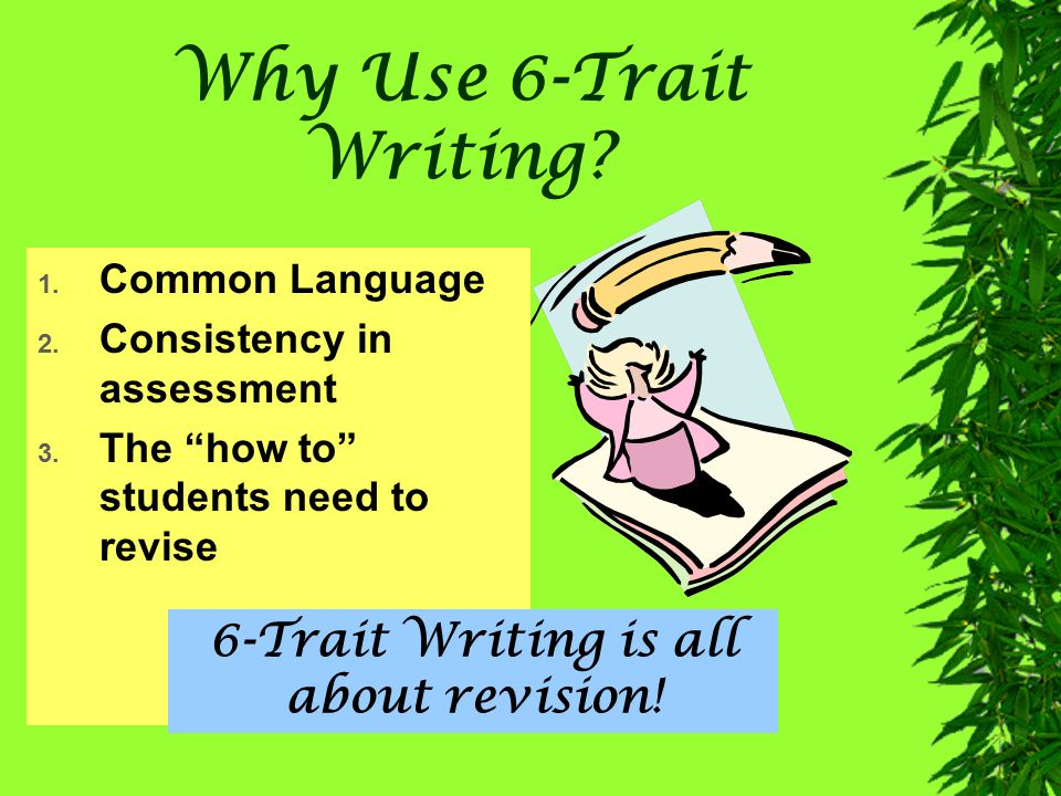 6-Trait Writing is all about revision!