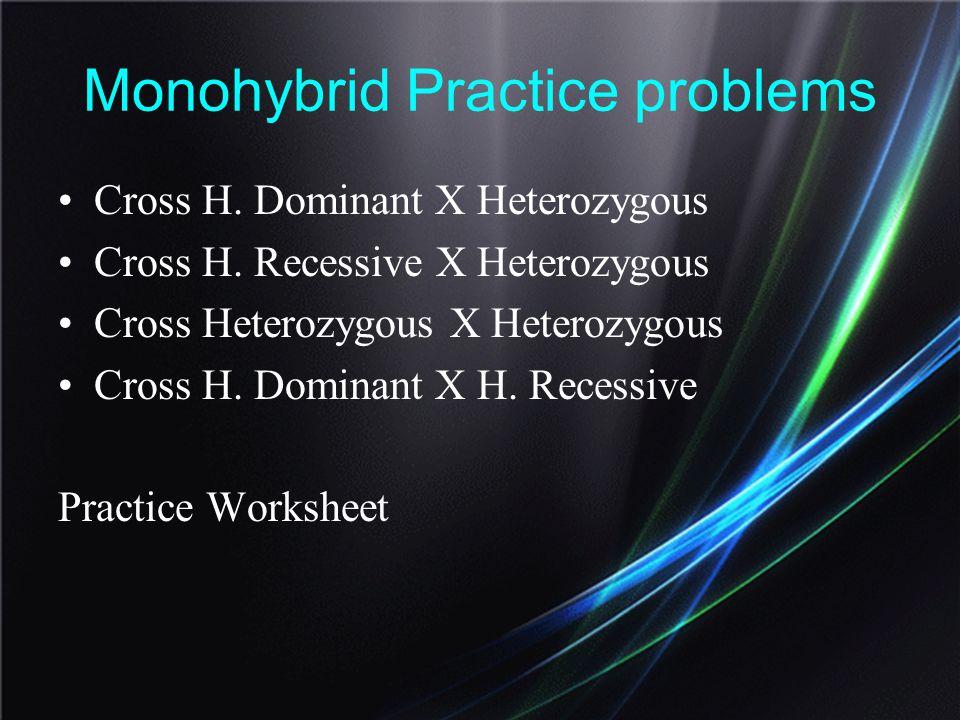 Monohybrid Practice problems