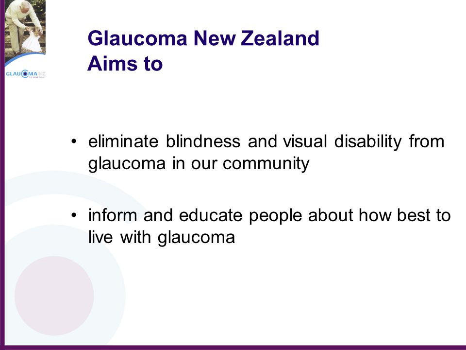 Glaucoma New Zealand Aims to
