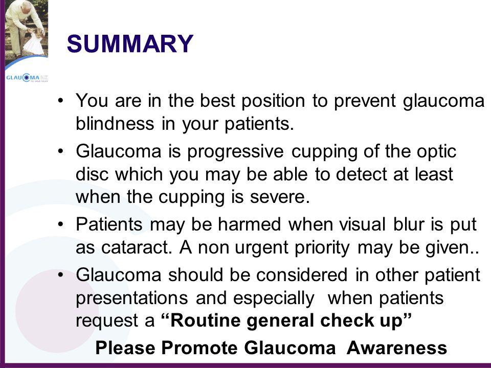 Please Promote Glaucoma Awareness