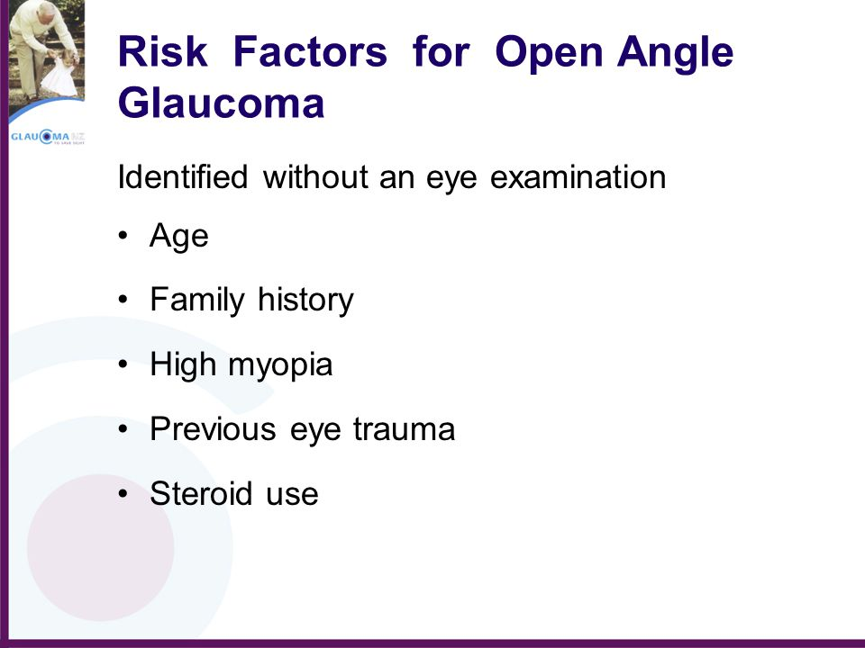 Risk Factors for Open Angle Glaucoma
