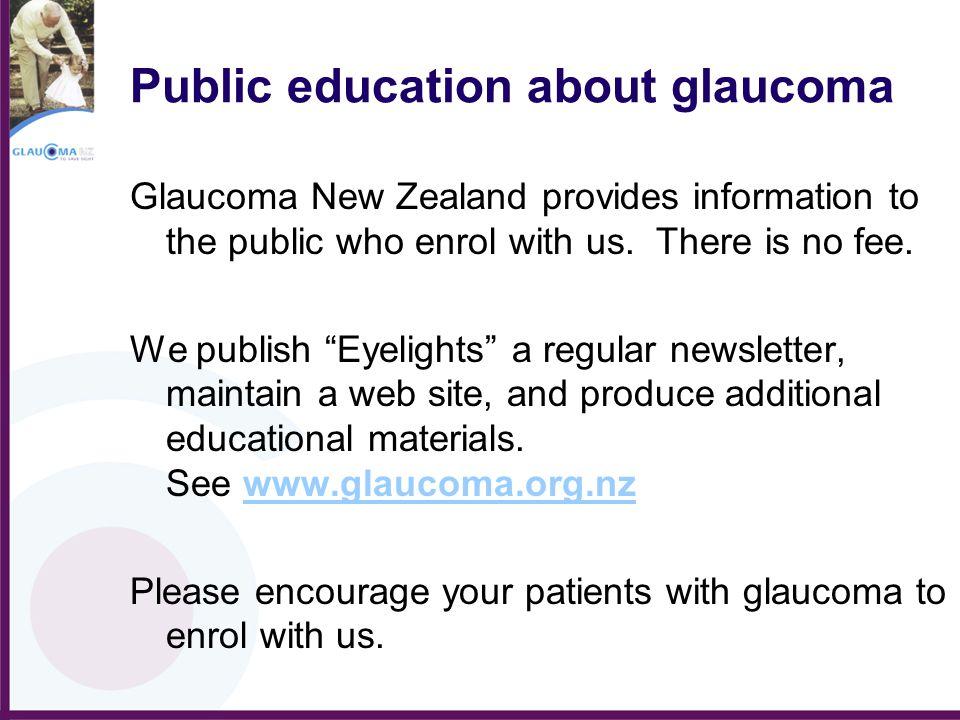 Public education about glaucoma