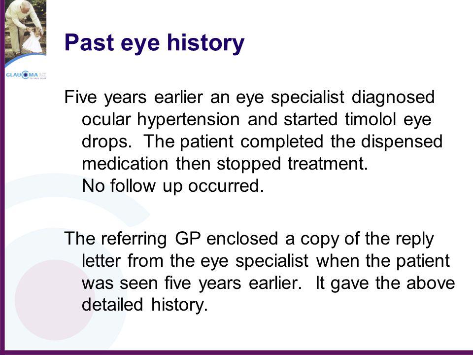 Past eye history