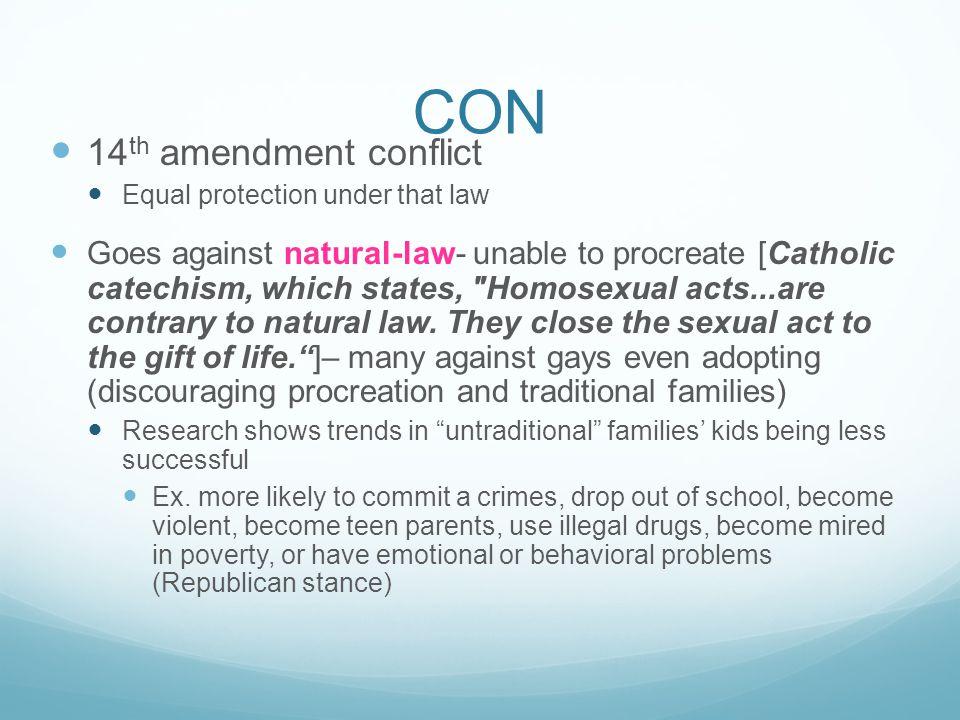 CON 14th amendment conflict