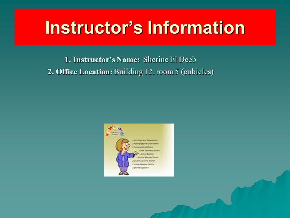 Instructor's Information