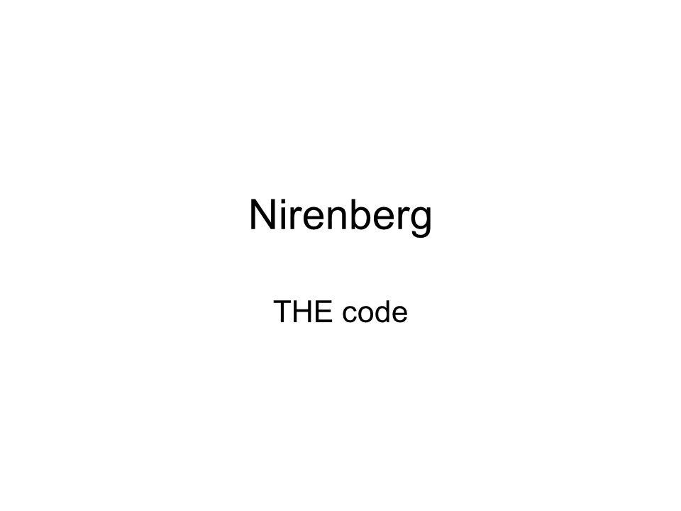 Nirenberg THE code
