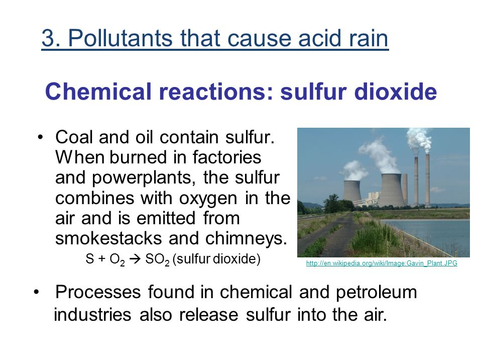 Chemical reactions: sulfur dioxide