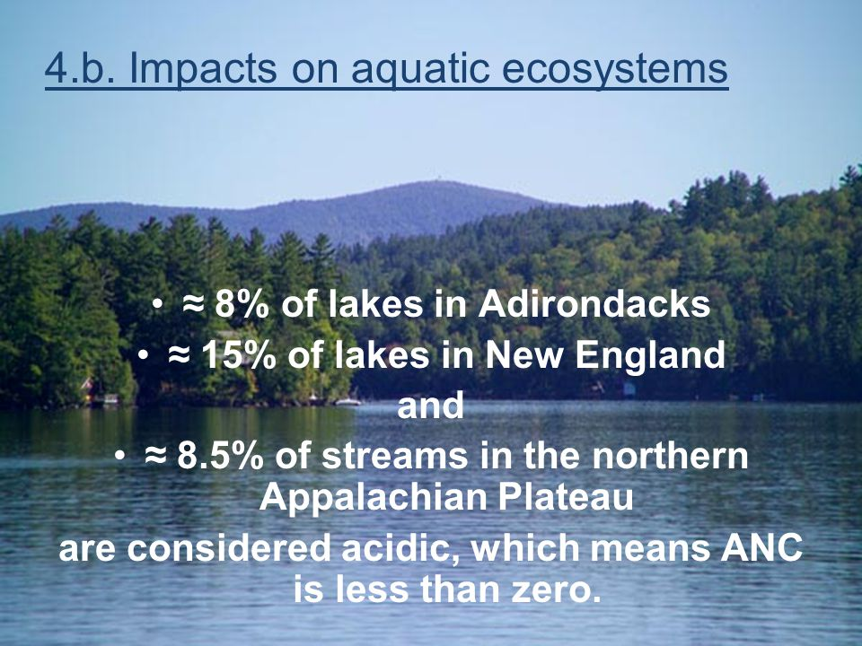 4.b. Impacts on aquatic ecosystems