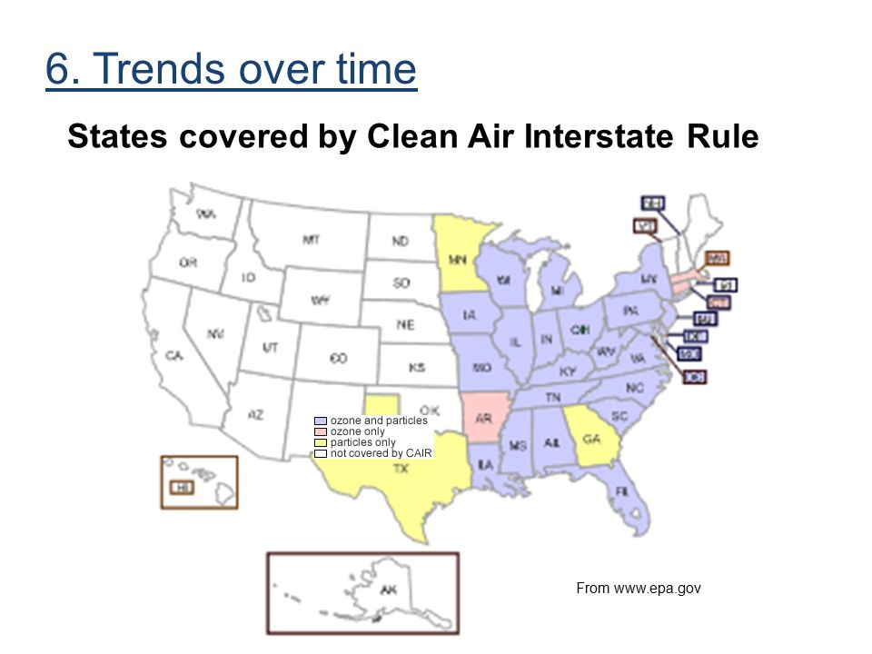 States Covered by Clean Air Interstate Rule
