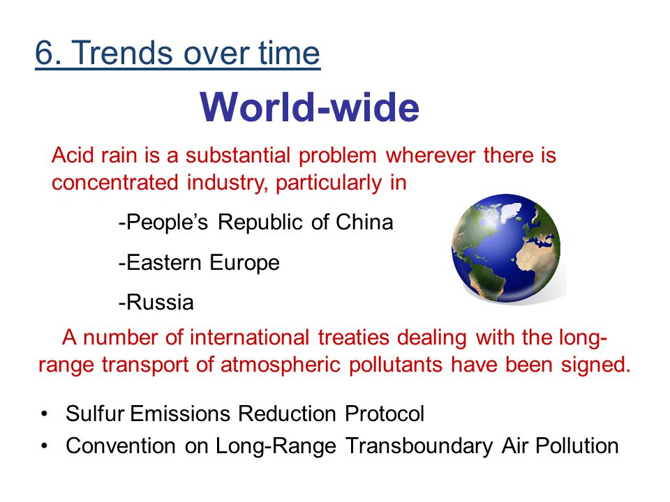 World-wide 6. Trends over time