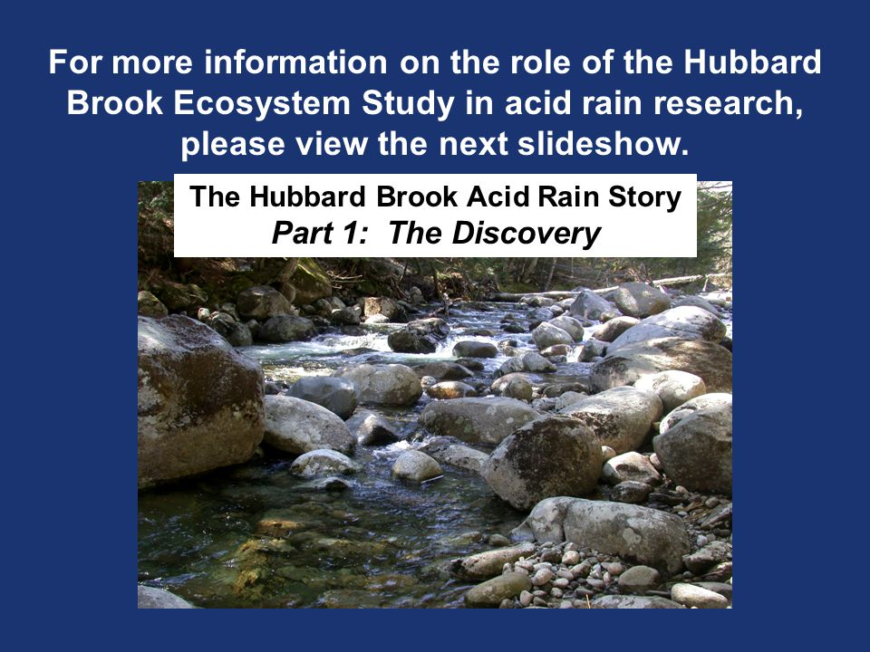 The Hubbard Brook Acid Rain Story