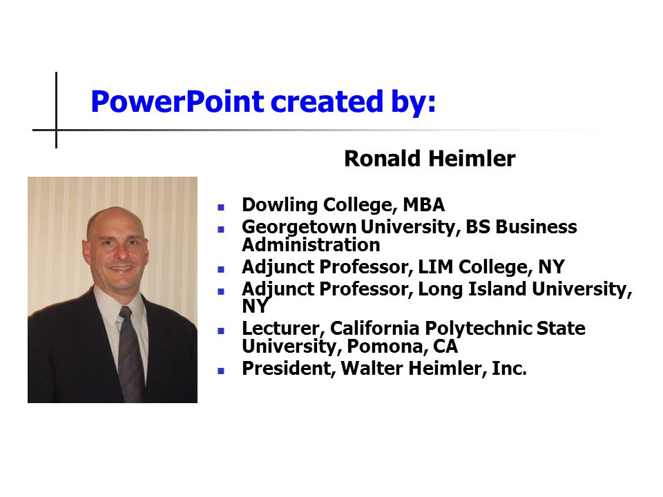 PowerPoint created by: