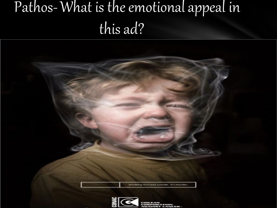 Pathos- What is the emotional appeal in this ad
