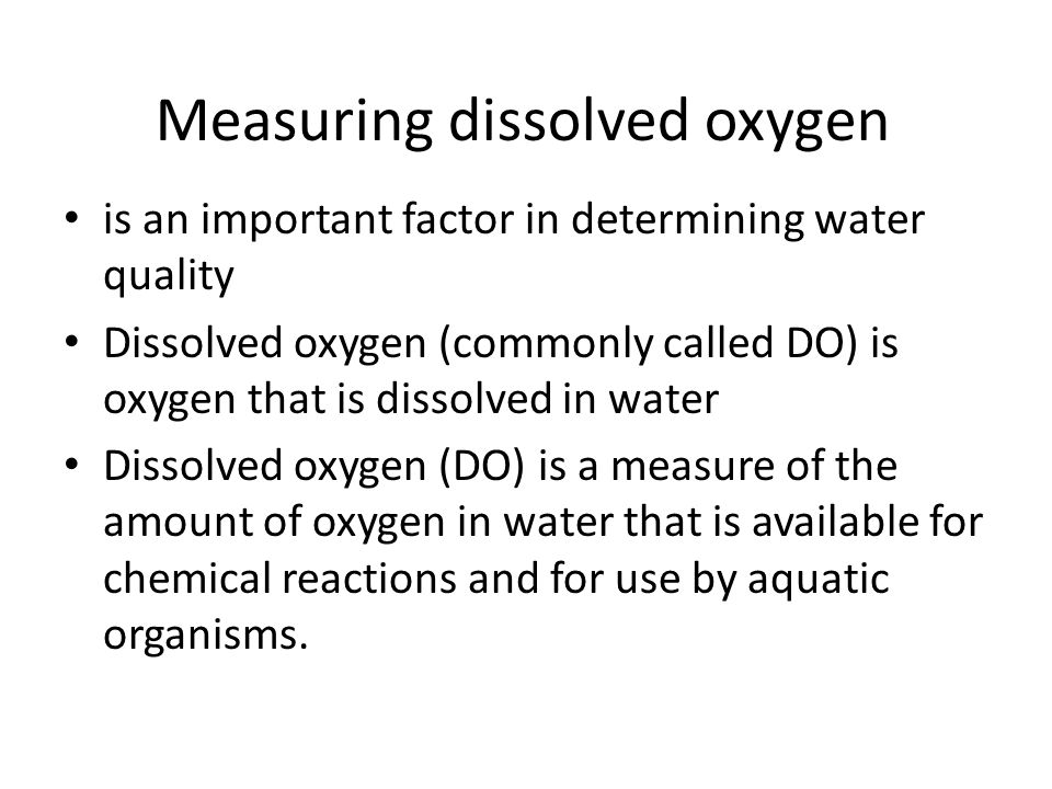 Measuring dissolved oxygen