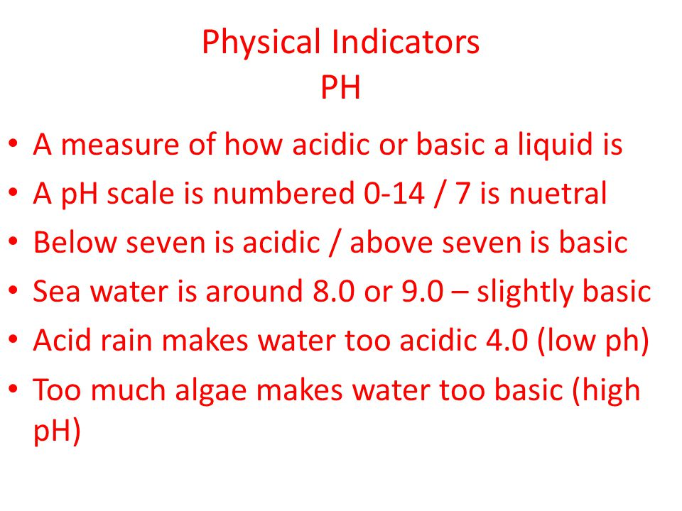 Physical Indicators PH
