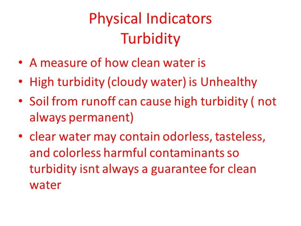 Physical Indicators Turbidity