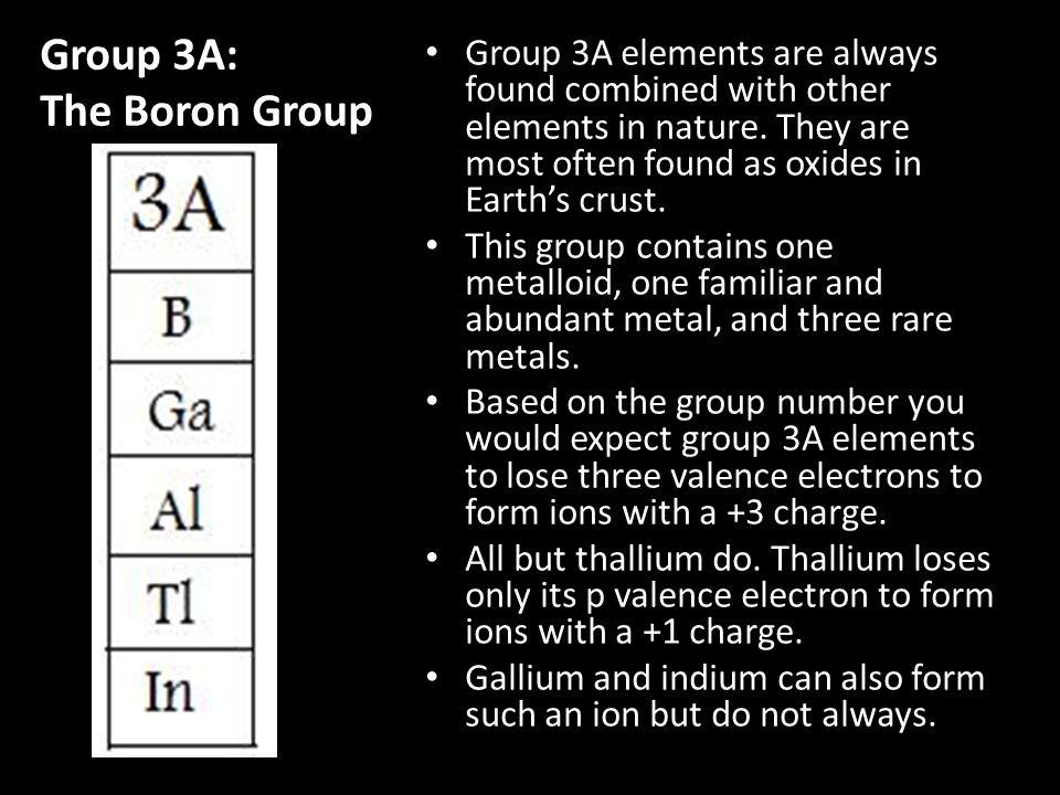 Group 3A: The Boron Group