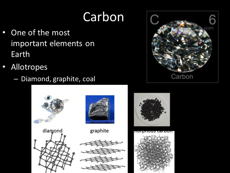 Carbon One of the most important elements on Earth Allotropes