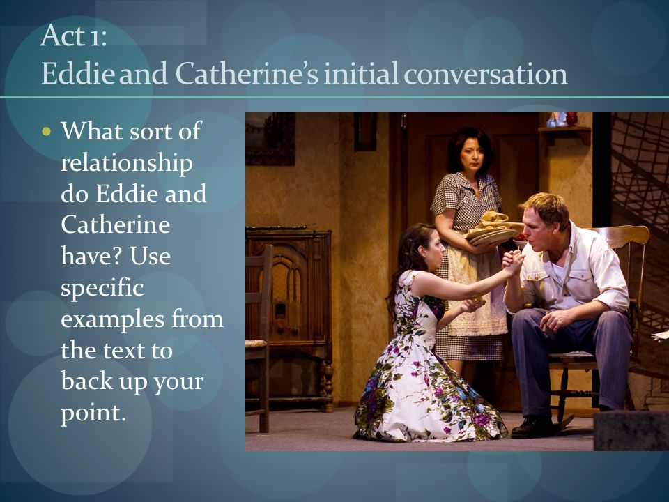 Act 1: Eddie and Catherine's initial conversation