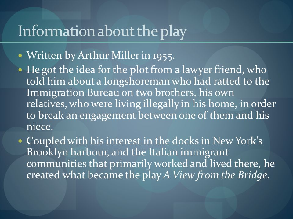 Information about the play