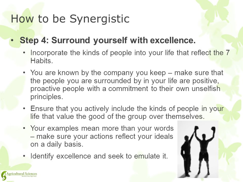 How to be Synergistic Step 4: Surround yourself with excellence.
