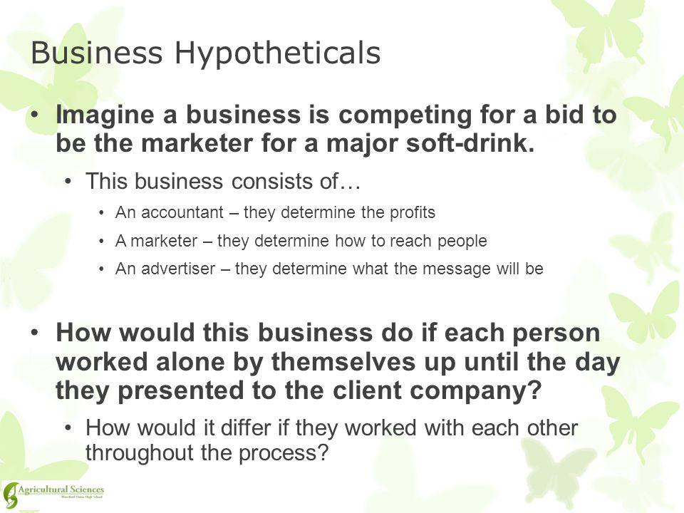 Business Hypotheticals