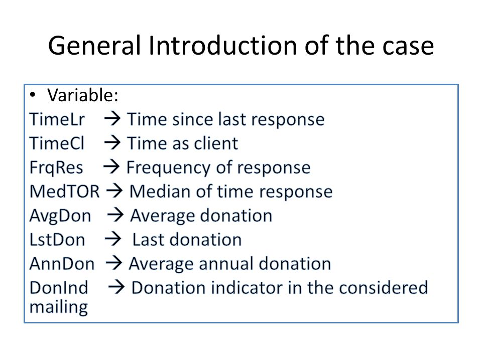General Introduction of the case