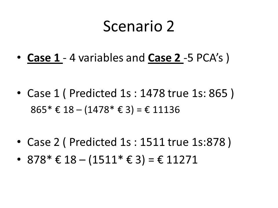 Scenario 2 Case 1 - 4 variables and Case 2 -5 PCA's )