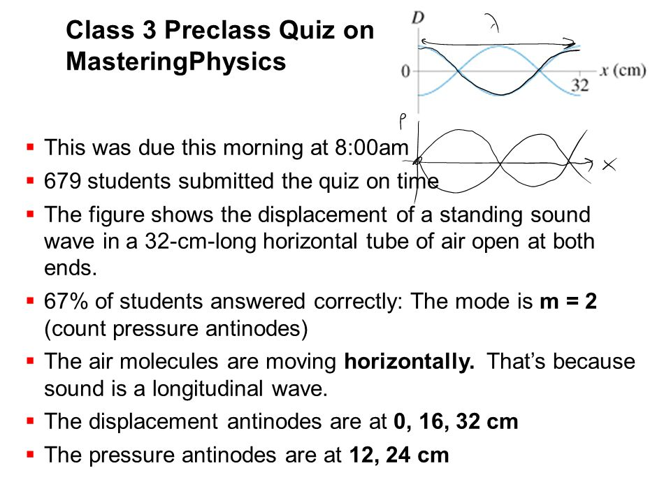 Class 3 Preclass Quiz on MasteringPhysics