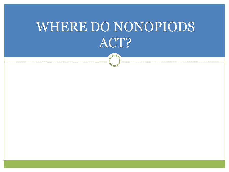 WHERE DO NONOPIODS ACT