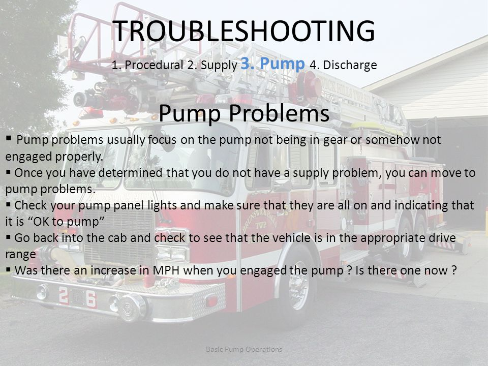 1. Procedural 2. Supply 3. Pump 4. Discharge