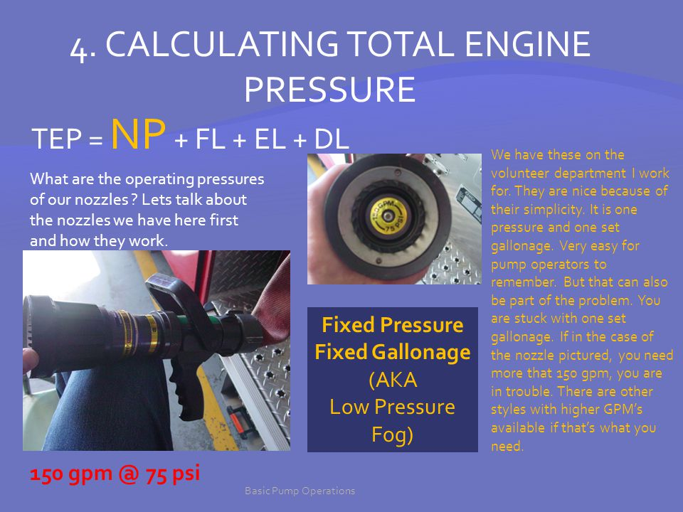 Fixed Pressure Fixed Gallonage