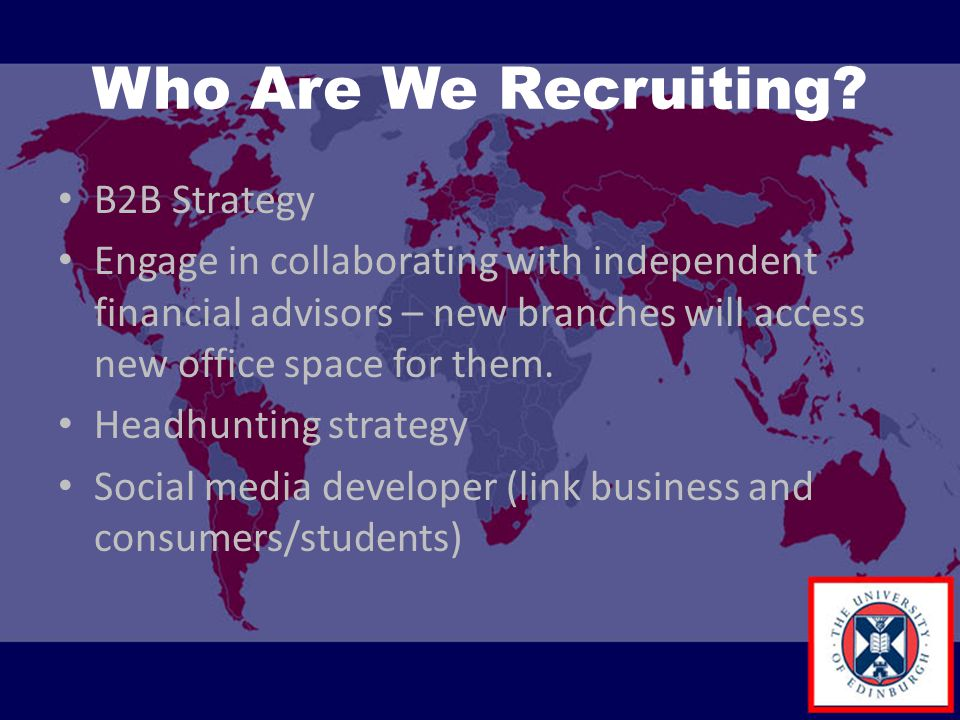 Who Are We Recruiting B2B Strategy