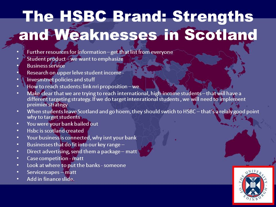 The HSBC Brand: Strengths and Weaknesses in Scotland