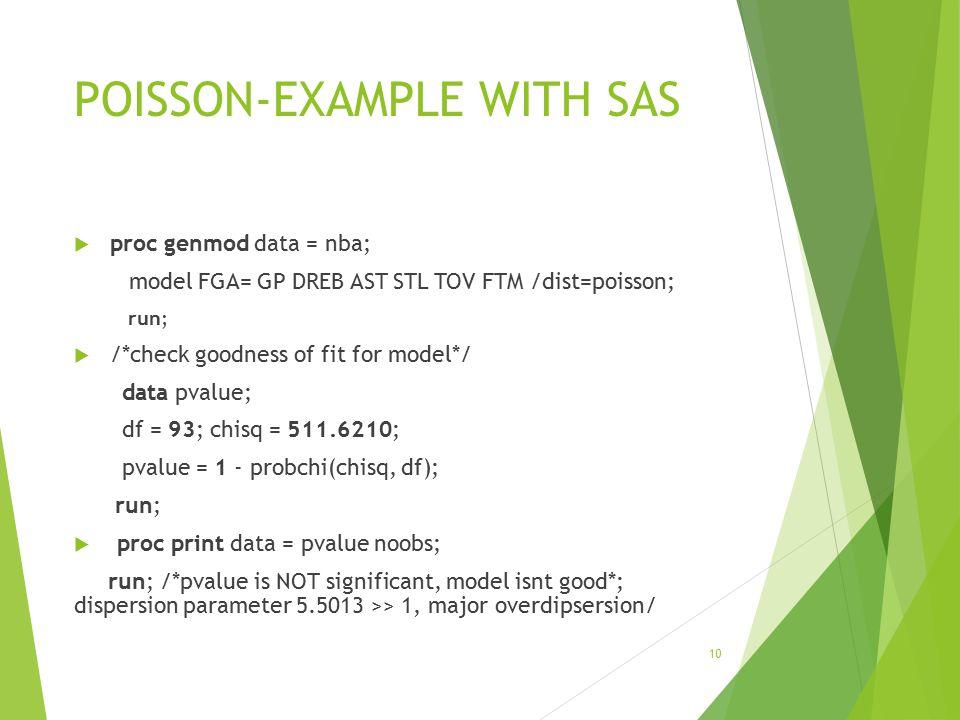 POISSON-EXAMPLE WITH SAS