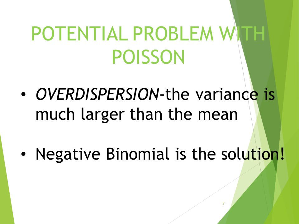 POTENTIAL PROBLEM WITH POISSON