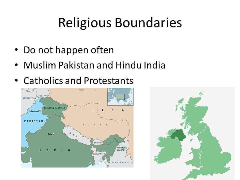 Religious Boundaries Do not happen often