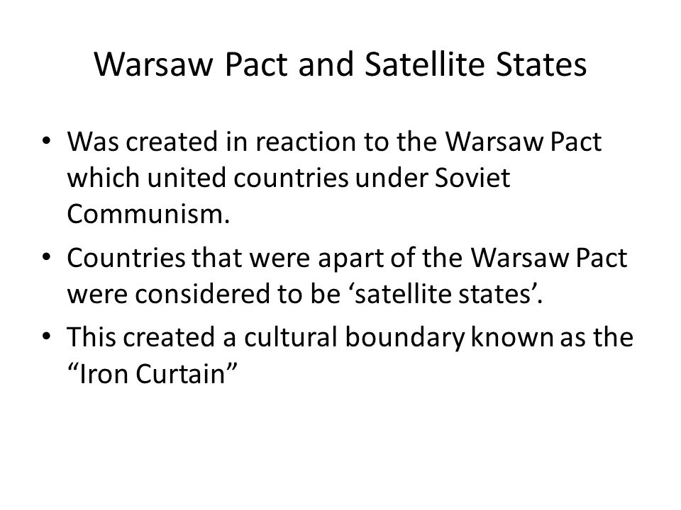 Warsaw Pact and Satellite States