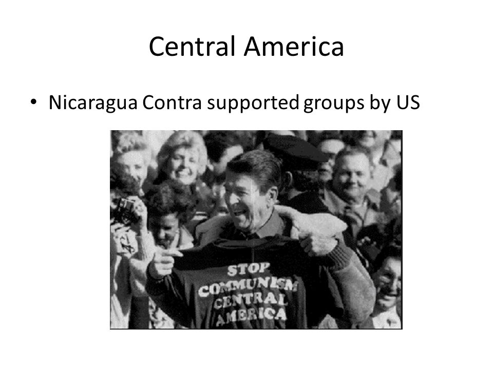 Central America Nicaragua Contra supported groups by US