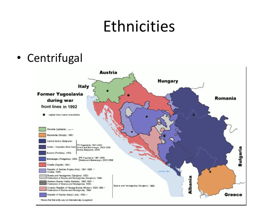 Ethnicities Centrifugal