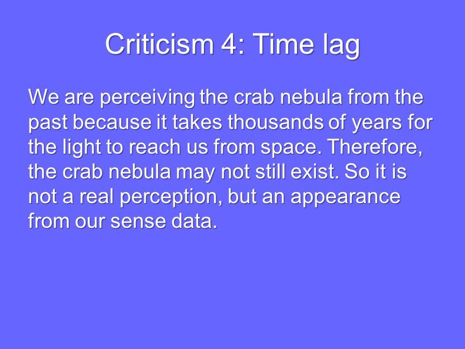Criticism 4: Time lag