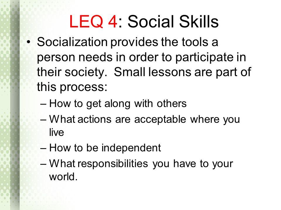 LEQ 4: Social Skills